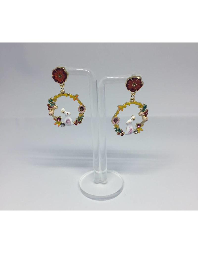 Rabbit land earrings