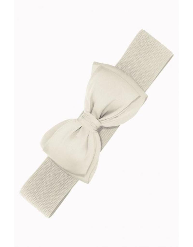 Banned Bow Belt - white
