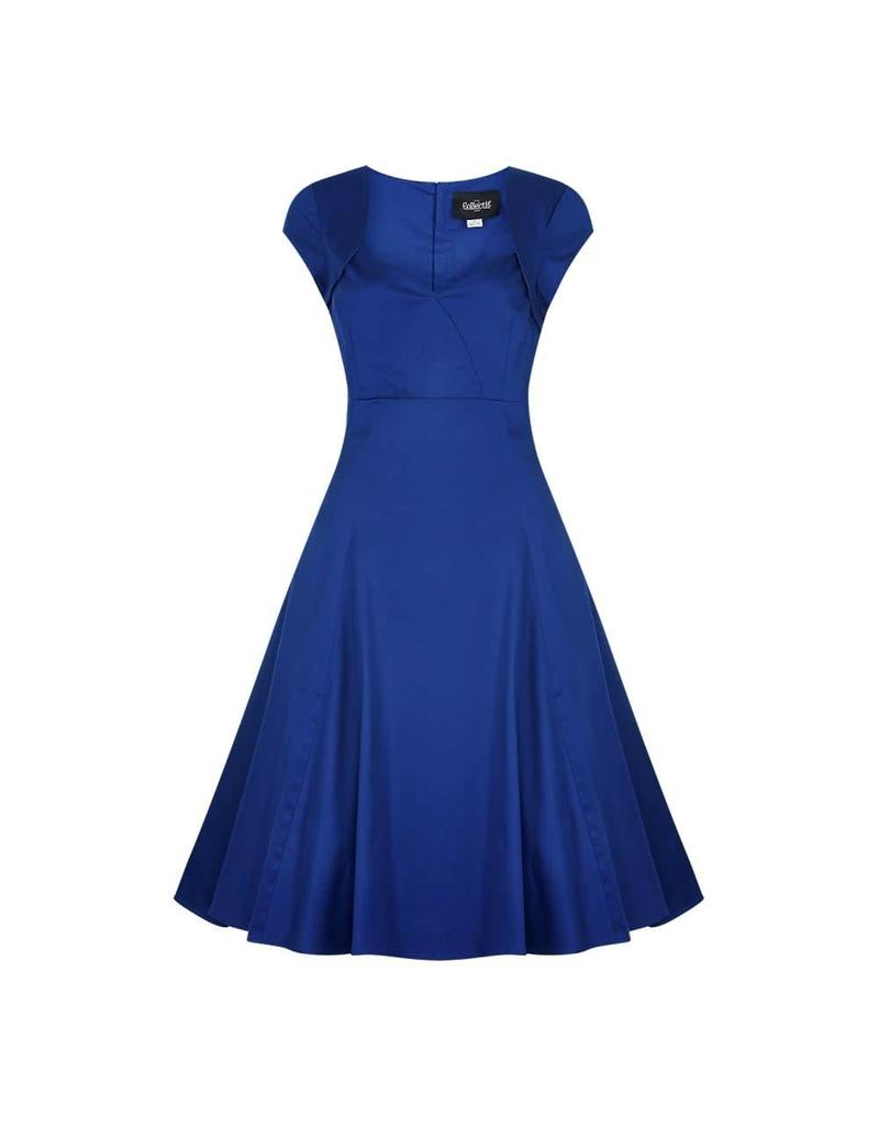 Collectif Regina Plain Doll Dress - blue