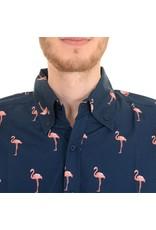 Run & Fly Flamingo print shirt