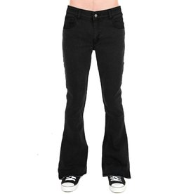 Run & Fly heren bell bottoms denim zwart