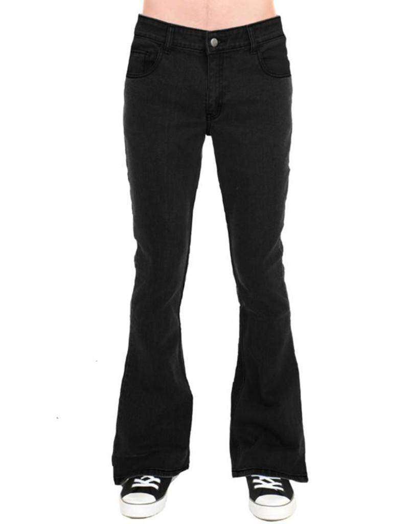 Run & Fly mens bell bottoms denim black