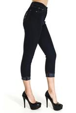 Run & Fly Demin capri trousers