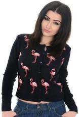 Run & Fly Flamingo cardigan