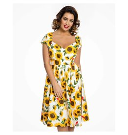 Lindy Bop 'Charlene' Sunflower Dress