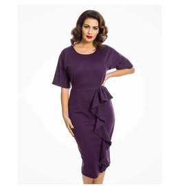Lindy Bop 'Angelina' Purple Pencil Dress