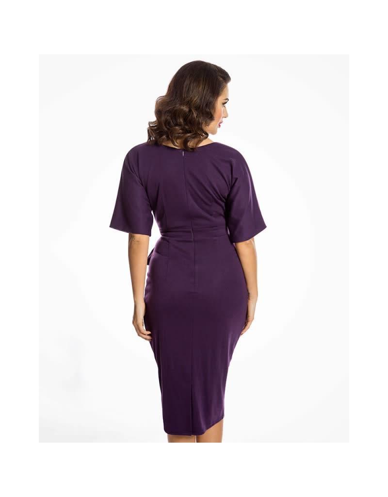 Lindy Bop 'Angelina' Purple Pencil Dress