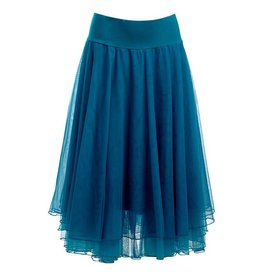 LaLaMour Mesh Layer Skirt Teal