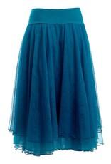 LaLaMour Mesh Layer Skirt Teal
