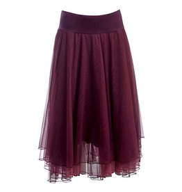LaLaMour Mesh layer skirt Aubergine