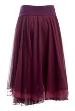 LaLaMour Mesh layer skirt Aubergine