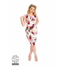 Hearts & Roses Vintage Rose Print Wiggle Dress