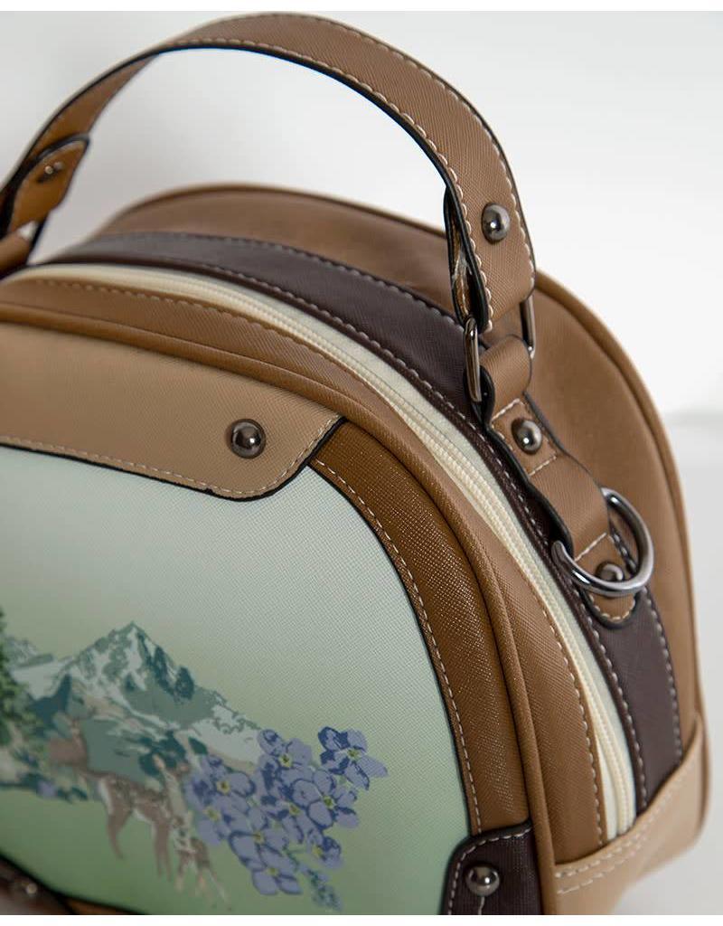 Lindy Bop 'Bowlea' Deer Print Bowling Bag