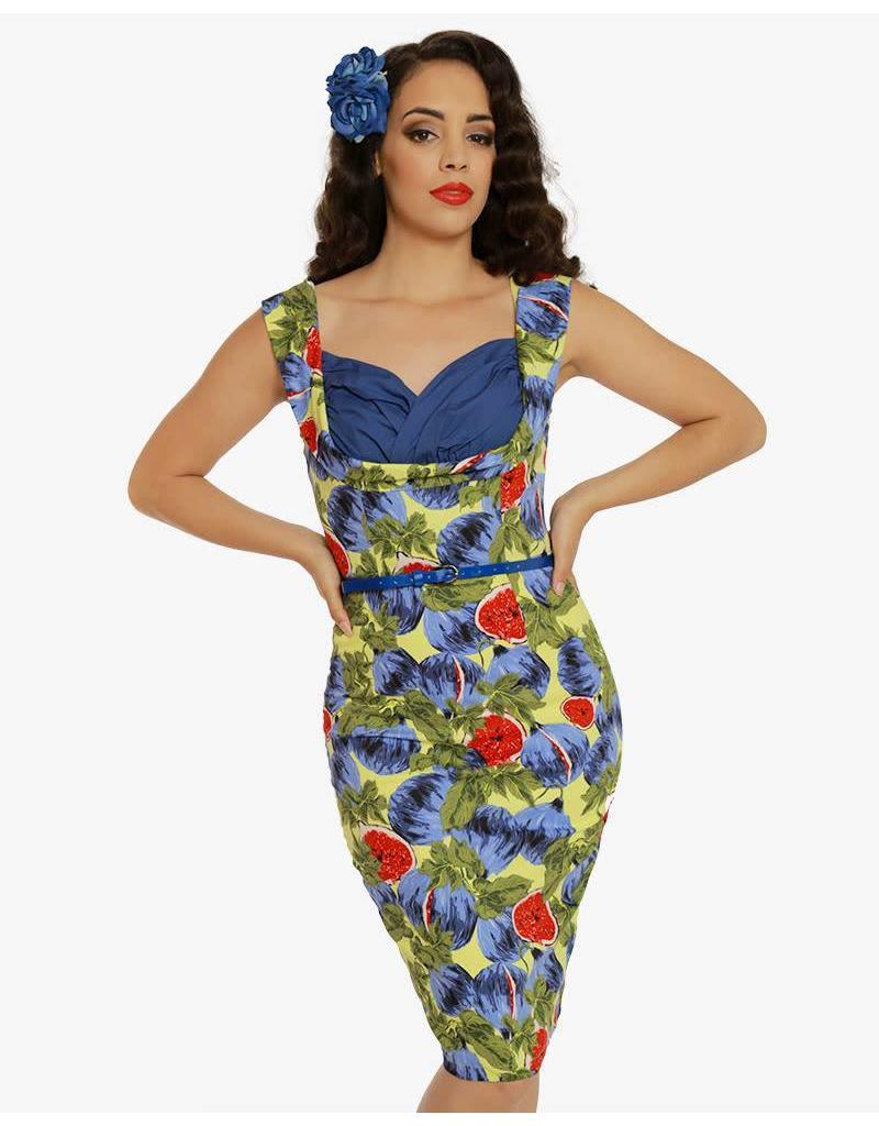 Lindy Bop 'Vanessa' Fig Print Pencil Dress