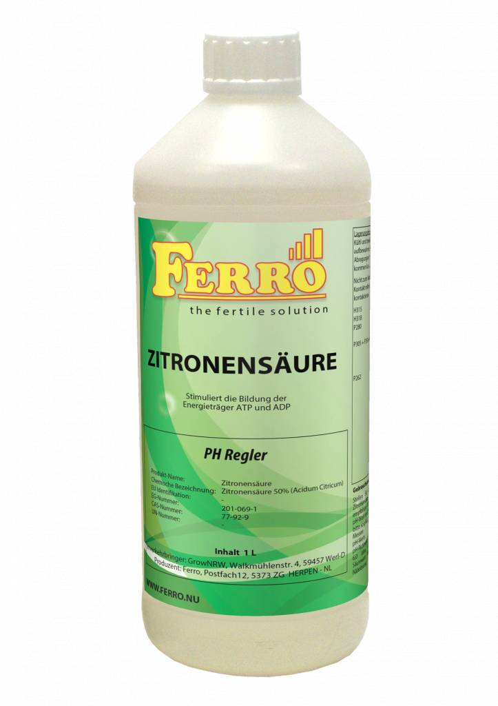 Ferro Ferro Zitronensäure pH Regler 1L