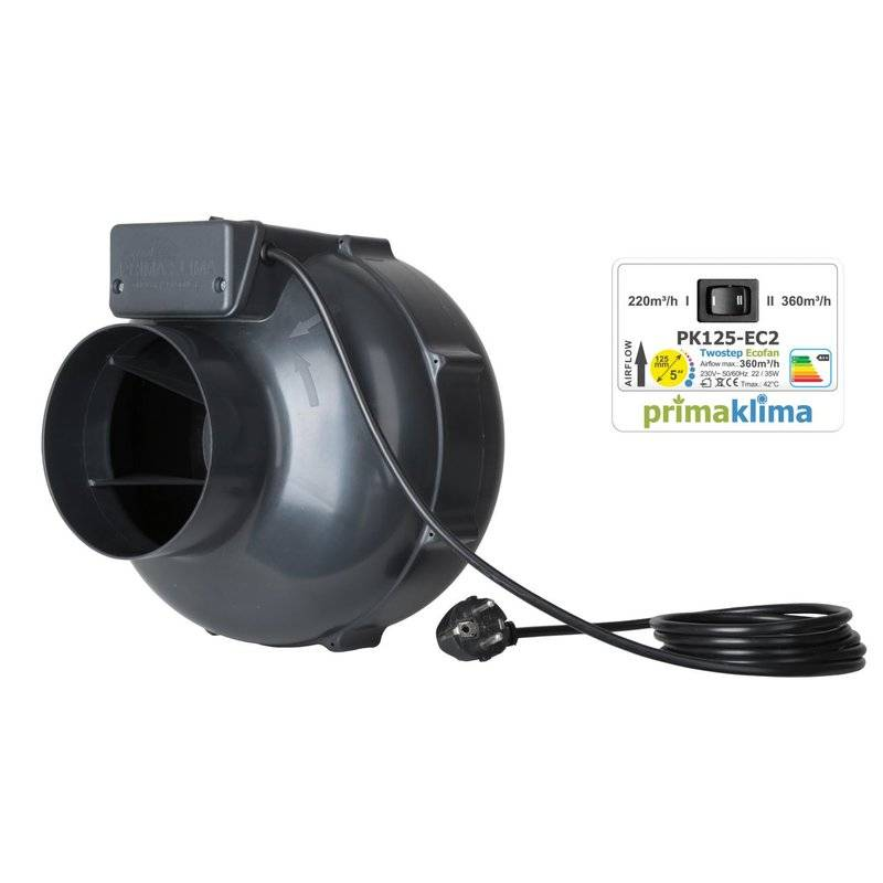 Prima Klima EC II Speed Ventilator 125 220-360m³/h