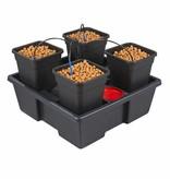 Atami® Bewässerungssystem Atami Wilma System für 4 Pflanzen 6L Topf Hydro Grow