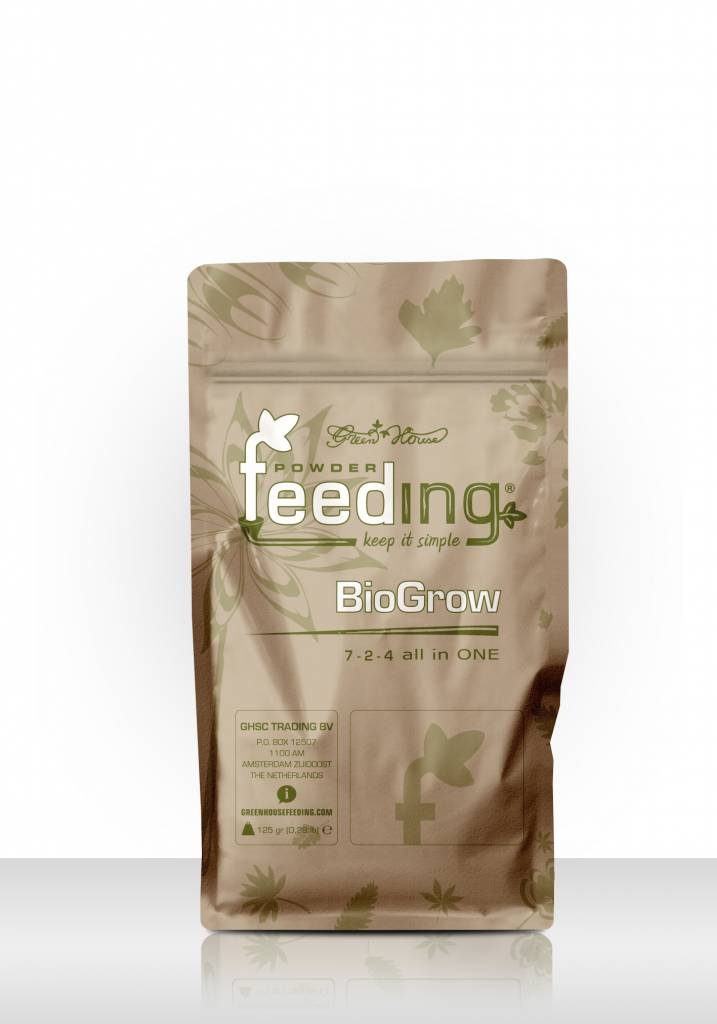 Greenhouse Feeding Greenhouse Powder-Feeding BioGrow 125g  Wachstumsdünger