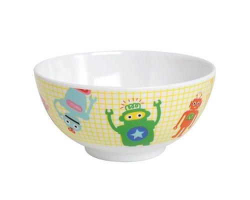 Funky Robots Kids Small Melamine Bowl