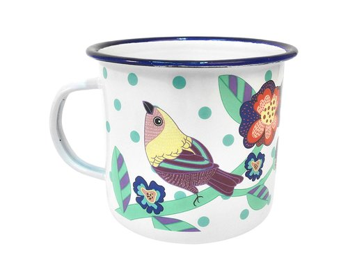 Singing with the Birds Enamel Mug Bird
