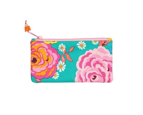 Asian Vintage Flower Small Zip Pouch