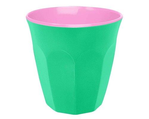 Aquamarine and Pink Medium Melamine Cup