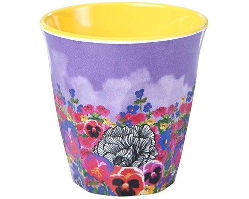 Ginger in Wonderland Medium Melamine Cup - Flower Field