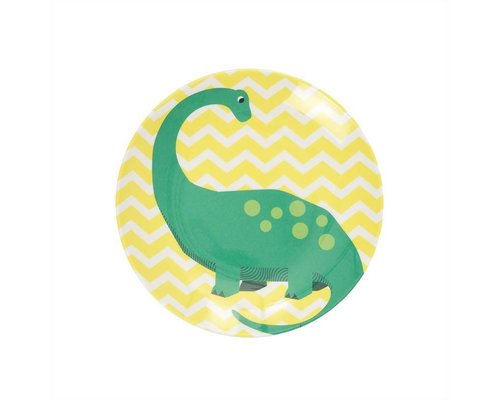 Happy Dinosaurs Kids Melamine Mini Plate - Yellow