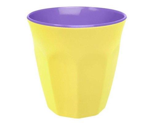 Pastel Colours Two Tone Medium Melamine Cup - Yellow