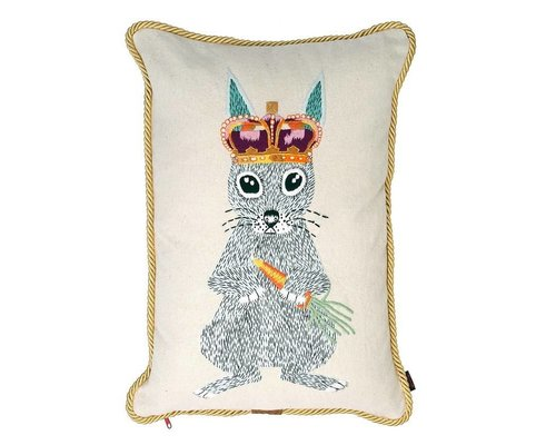 Ginger in Wonderland Cushion Gold Robe Piping - Prince