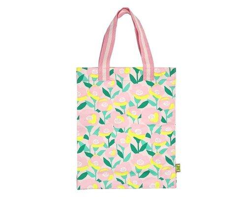 Happy Summer Poppy in Pink Tote Bag
