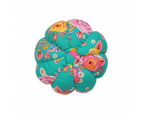 Asian Vintage Flower Small Pumpkin Pouf