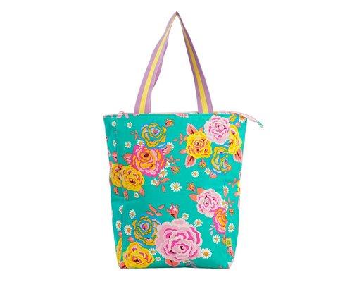 Asian Vintage Flower Tote Bag