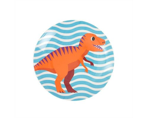 Happy Dinosaurs Kids Melamine Mini Plate - Blue