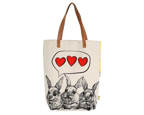Rabbit Love Tote Bag