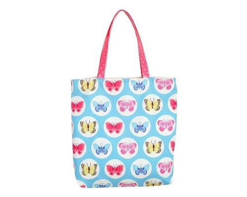 Happy Butterflies Tote Bag - Blue