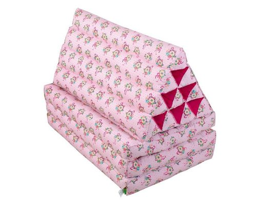 Pink Flamingos Triangle Floor Cushion with 3-fold Mattress