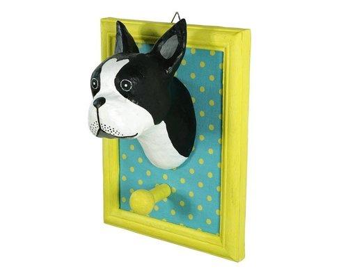 Frame Wall Hanging Bull Dog - Black