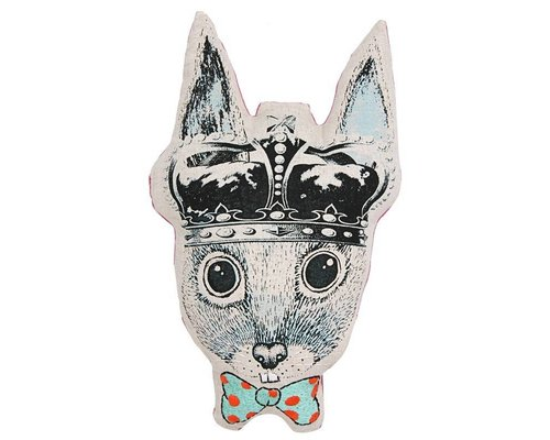 Ginger in Wonderland Cushion Prince of Hares Head Bow Tie