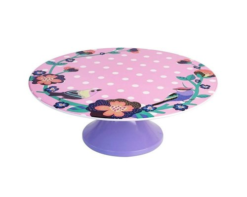 Singing with the Birds Melamine Cake Stand