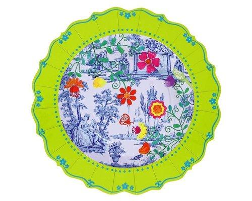My Secret Garden Toile Paper Plates