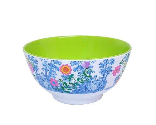 My Secret Garden Toile Medium Melamine Bowl