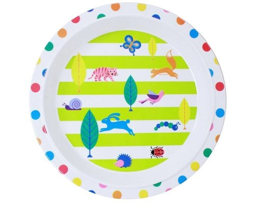 My Secret Garden Kids Melamine Round Plate