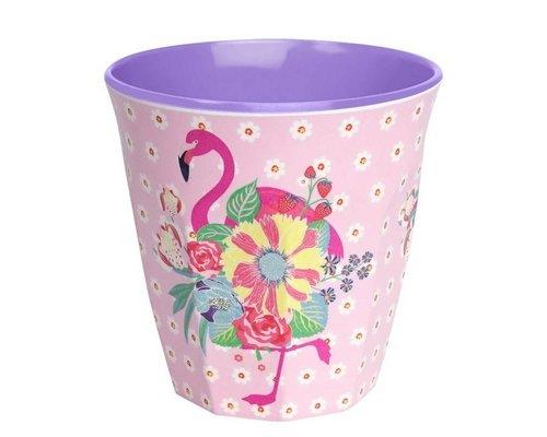 Pink Flamingos Medium Melamine Cup - Pink
