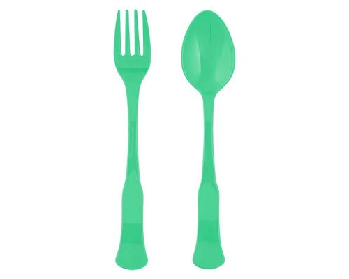 Aquamarine Spoon and Fork