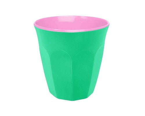 Aquamarine and Pink Small Melamine Cup