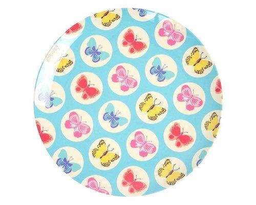 Happy Butterflies Lunch Plate  - Blue