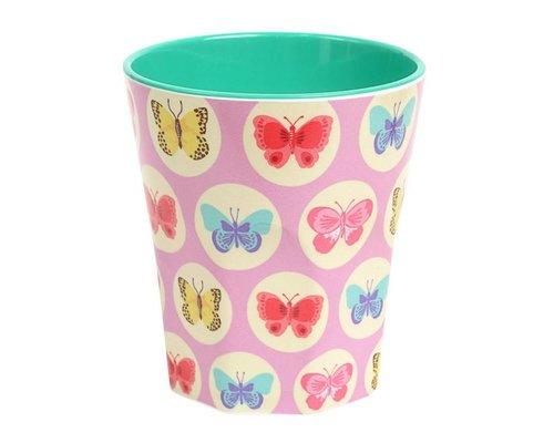 Happy Butterflies Large Melamine Cup - Pink
