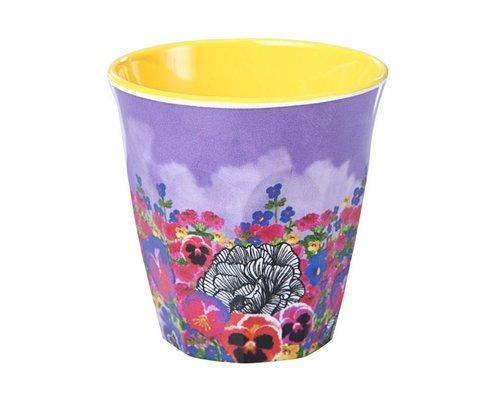 Ginger in Wonderland Small Melamine Cup - Flower Field