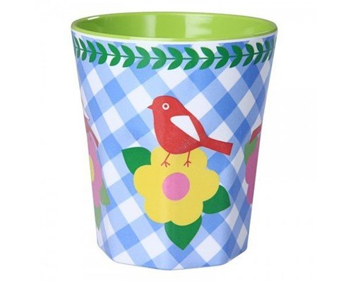 Vintage Bird Large Melamine Cup